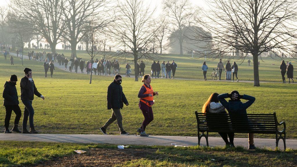 Brockwell Park, south London, 9 January 2021