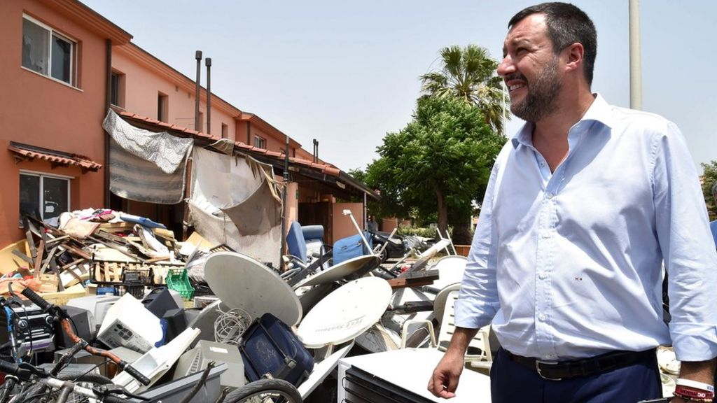 Italy's Salvini shuts Europe's one-time largest migrant centre - BBC