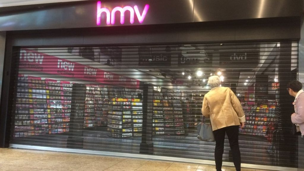 e08b2499d7d HMV reveals lists of stores set to close - BBC News