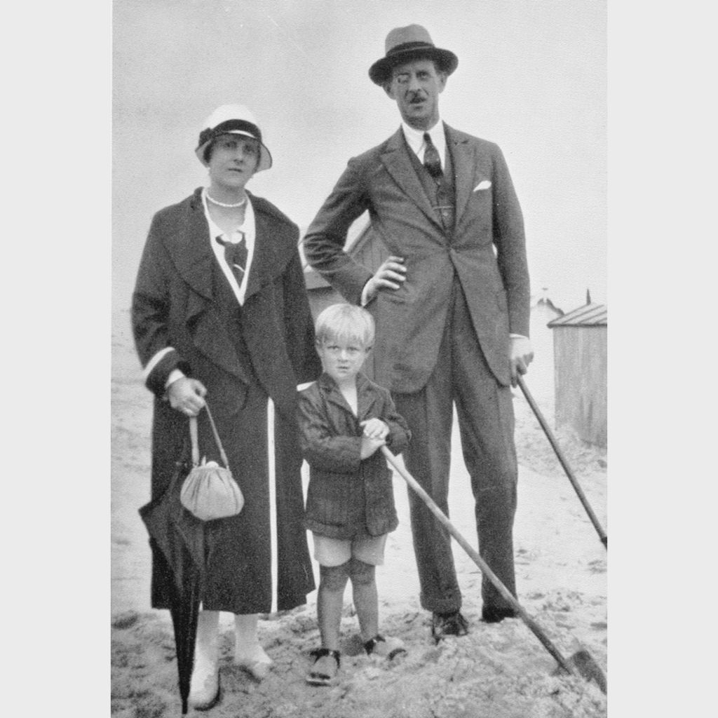 Prince Philip with his mother and father, circa 1925