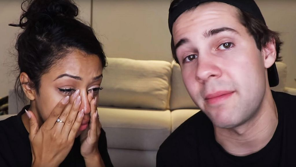 David Dobrik And Liza Koshy Announce Split In Emotional Video Bbc News