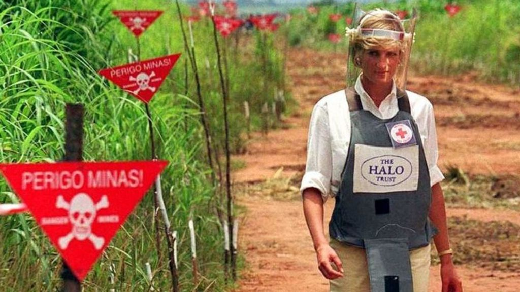 Image result for images of diana princess of wales at landmines