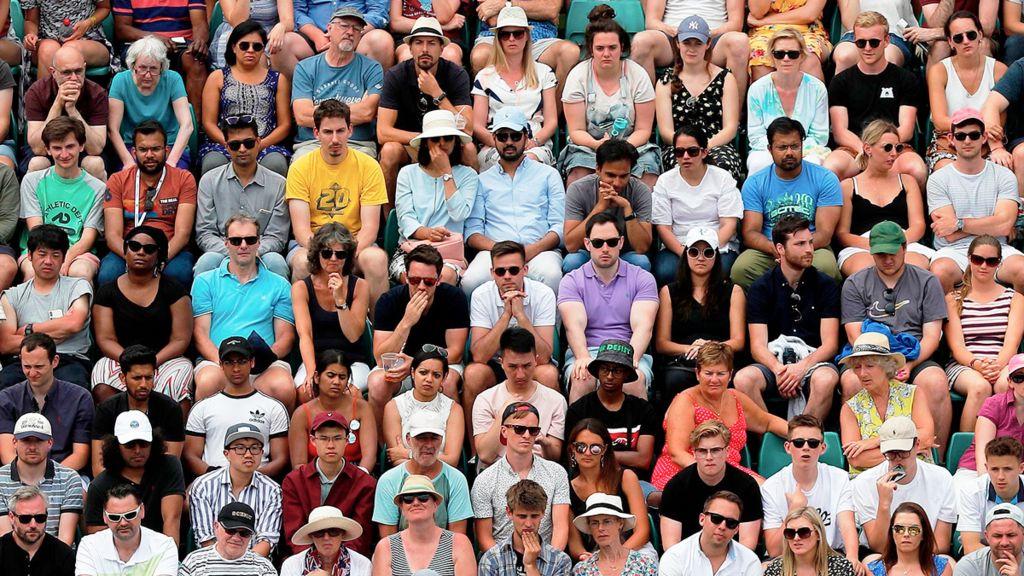 Crowd at Wimbledon, 2019