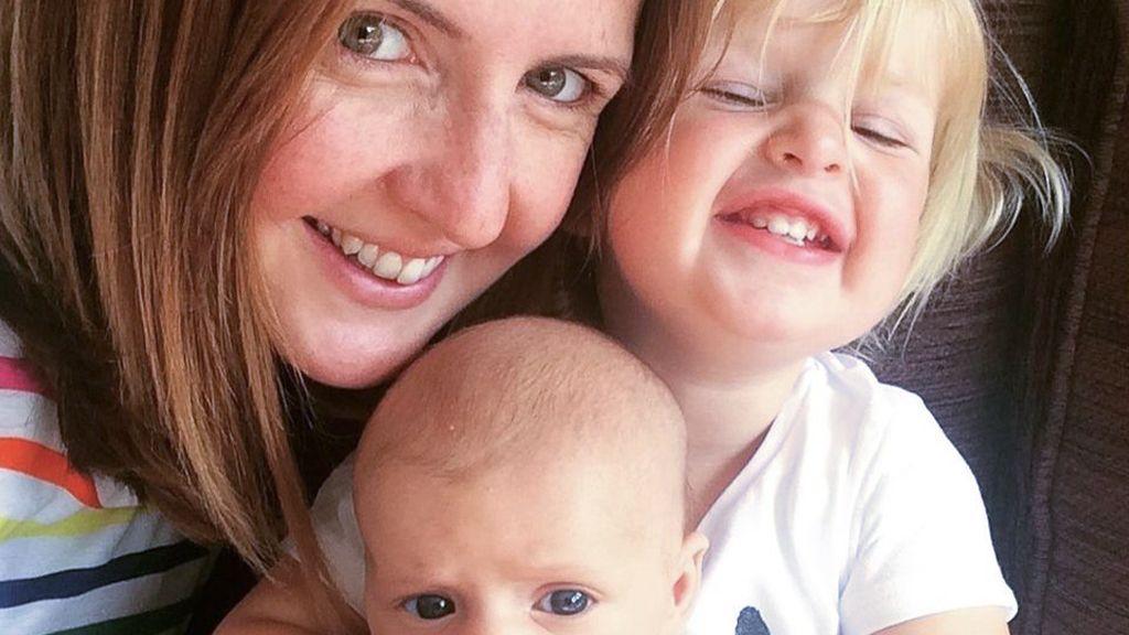Rebecca Gunn and her two children