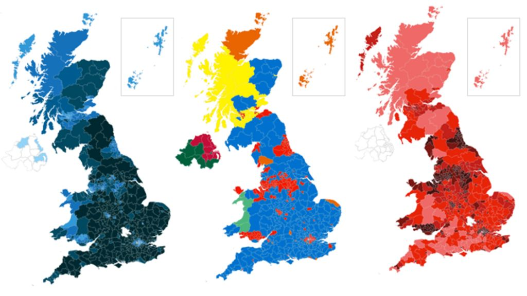 Map Of England 2017.Election 2017 The Result In Maps And Charts Bbc News