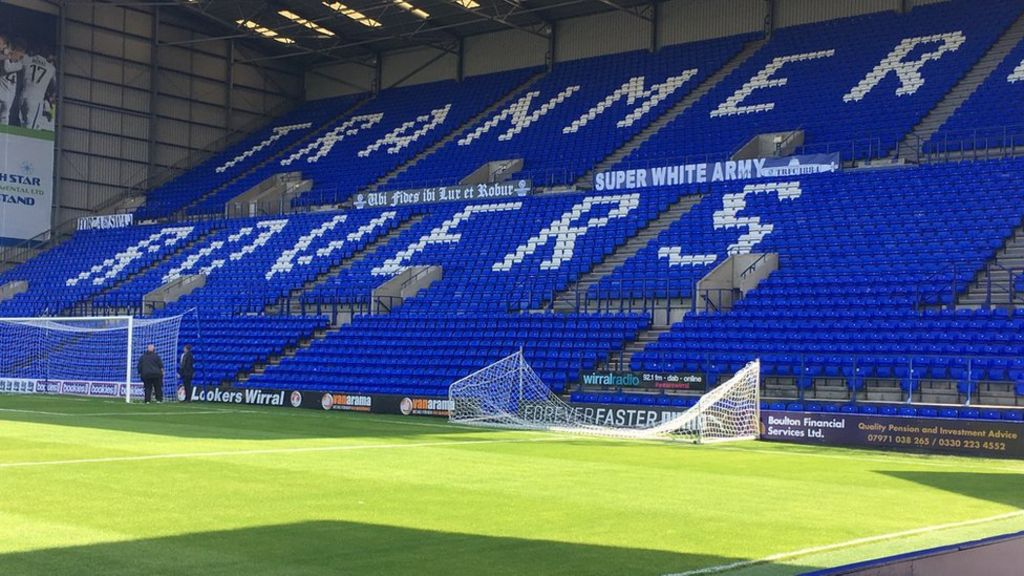 FA covered up Tranmere 'Super White Army' banner before England game