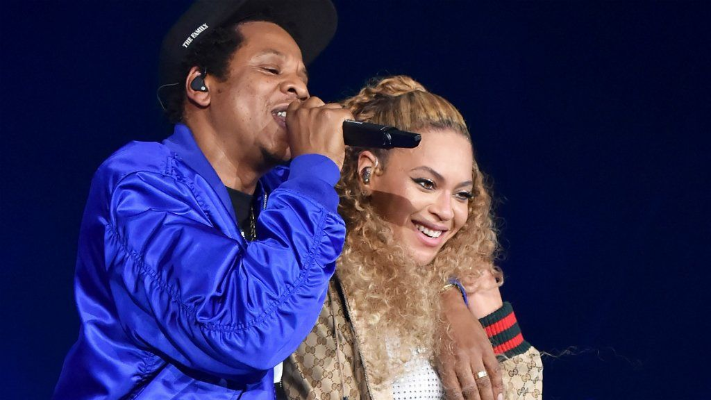 Beyonce and Jay-Z in Cardiff