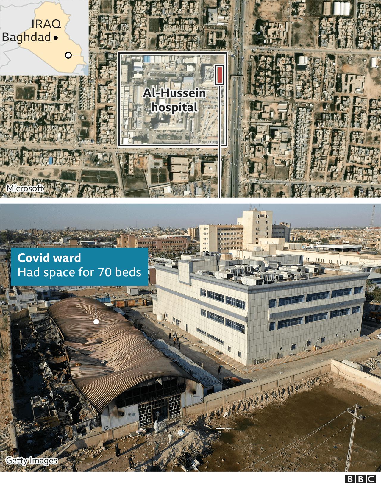 Iraq hospital fire: Protests as Covid ward blaze kills more than 90 thumbnail