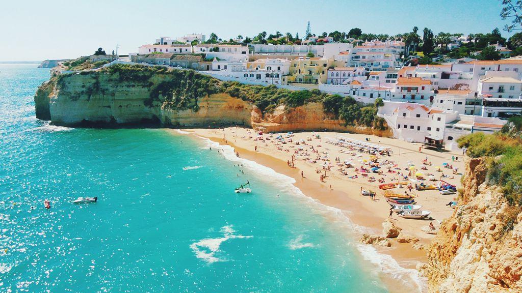 Playa en Portugal