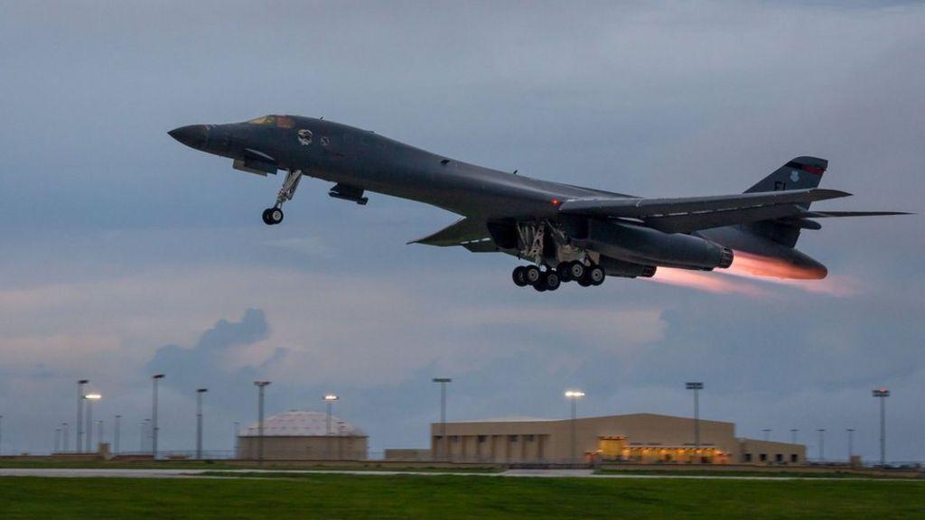 US flies bombers over Korean peninsula