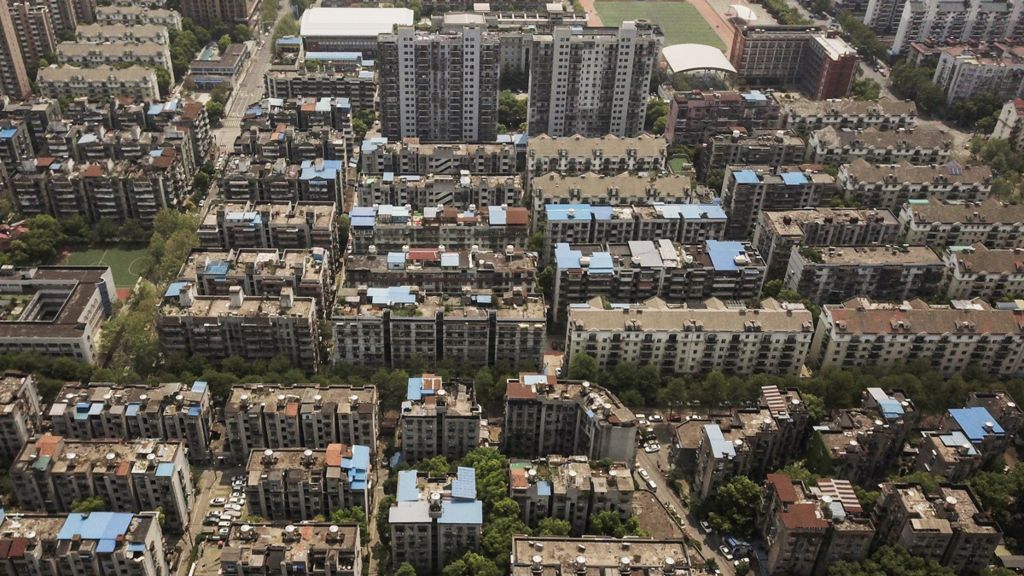 Residential housing blocks, Wuhan, China - April 2020