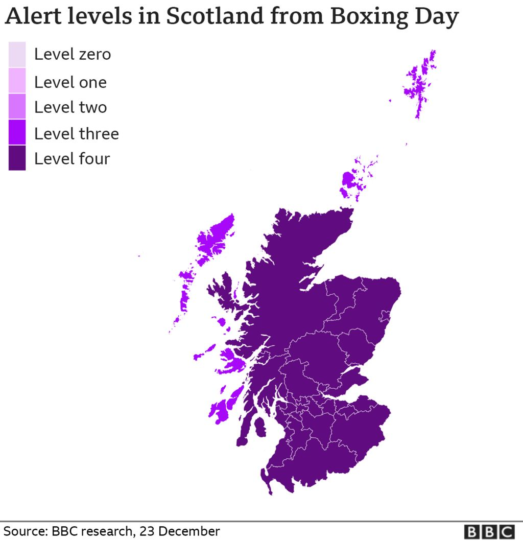 alert levels in scotland from boxing day