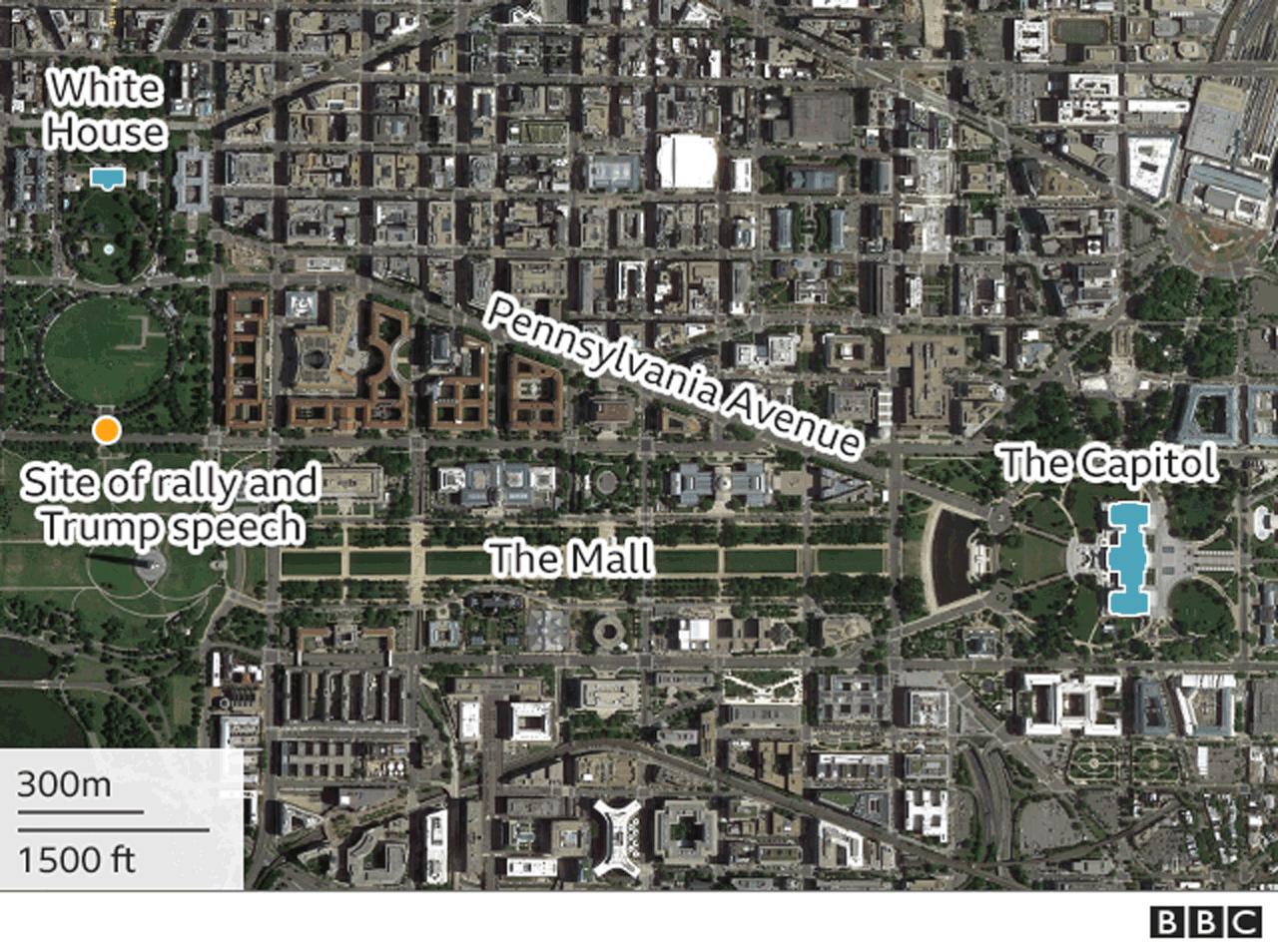 Map of Washington DC locations