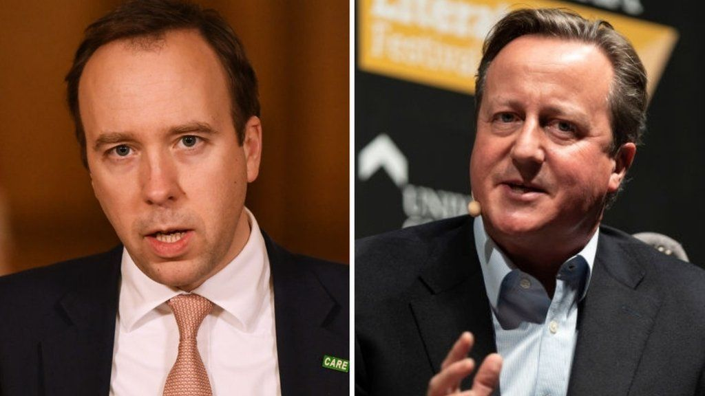 Matt Hancock and David Cameron