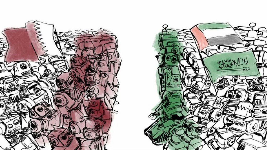The online war between Qatar and Saudi Arabia - BBC News
