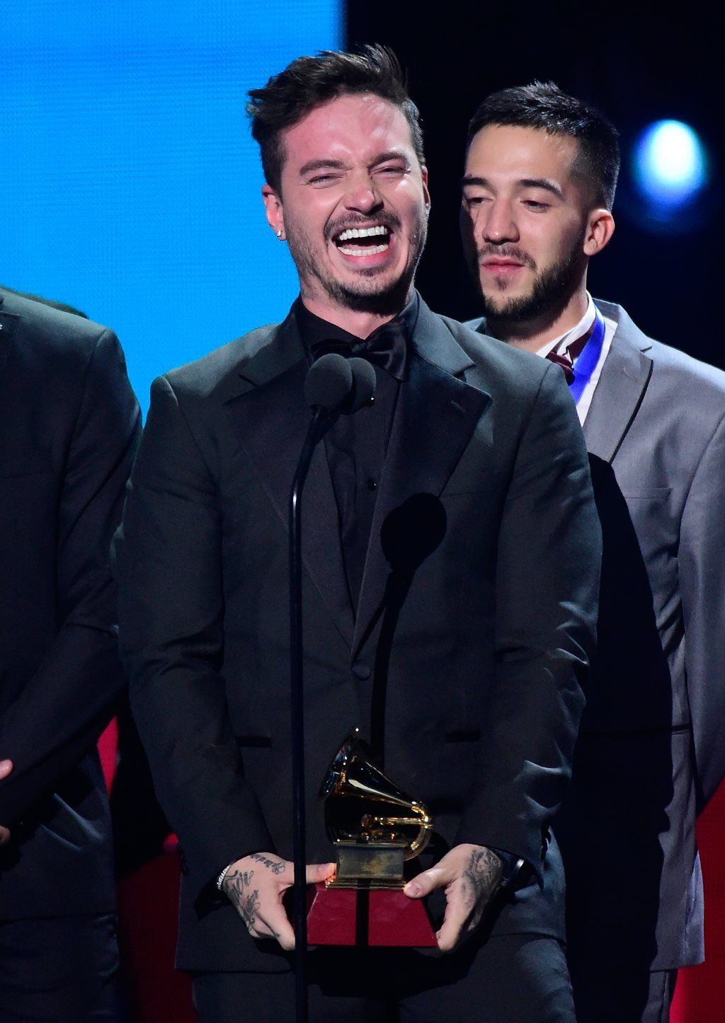 J Balvin at the 2016 Latin Grammys