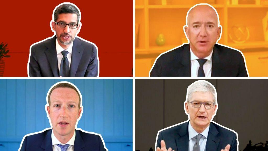 Sundar Pichai, Jeff Bezos, Mark Zuckerberg and Tim Cook
