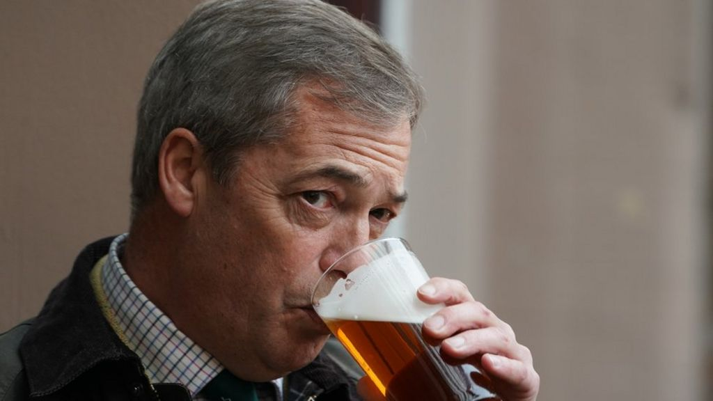 bbc.co.uk - Chris Mason - Coronavirus: Nigel Farage pub trip raised with Kent Police