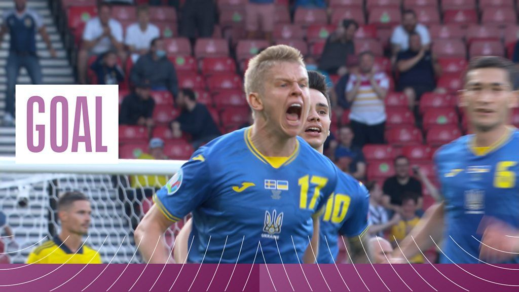 Euro 2020 Sweden v Ukraine: Oleksandr Zinchenkos super strike gives Ukraine the lead