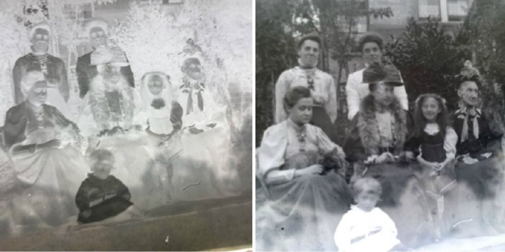 A family portrait. The identity of the people posing is currently unknown