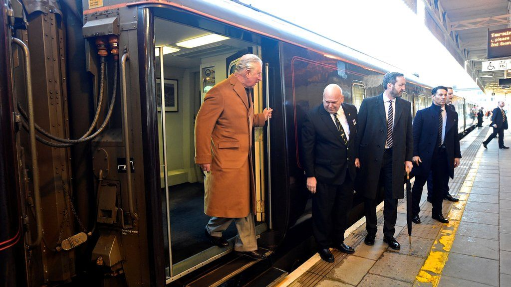 The royal train in Cardiff