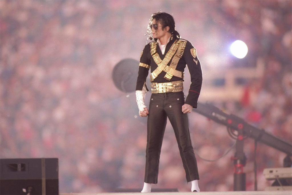 Michael Jackson performs at Super Bowl XXVII in Pasadena, California