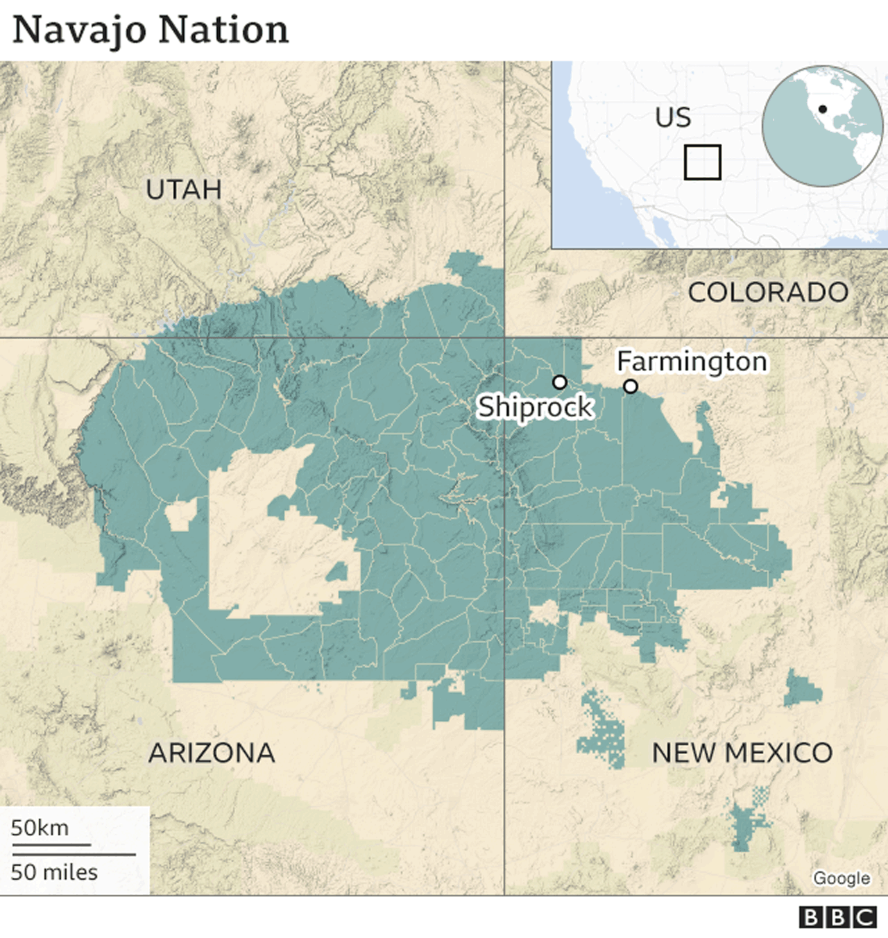 Map - Navajo Nation
