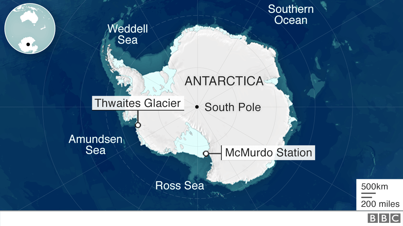 Map of Antarctic