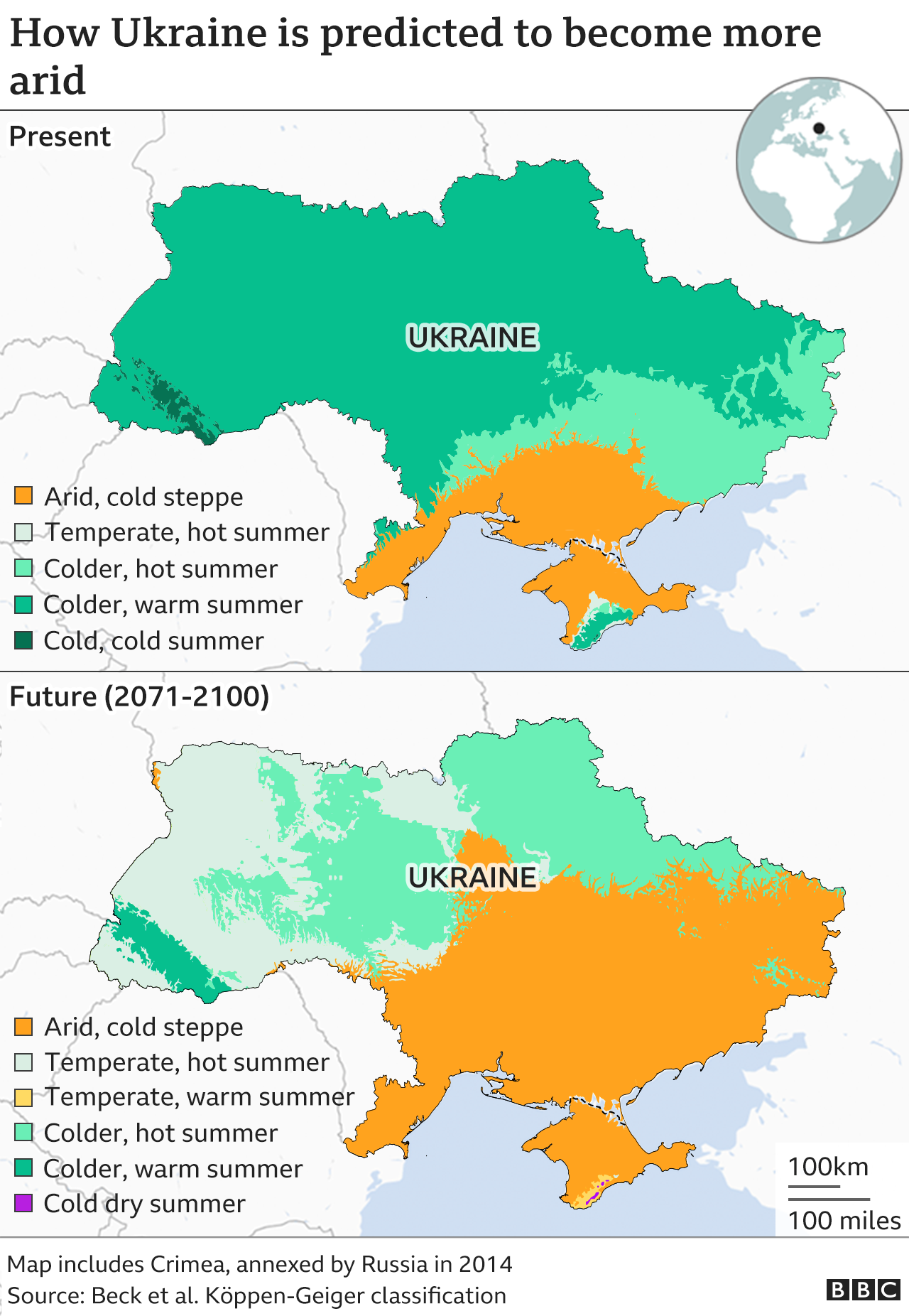 How Ukraine is set to become more arid