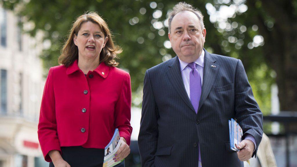 Leanne Wood and Alex Salmond