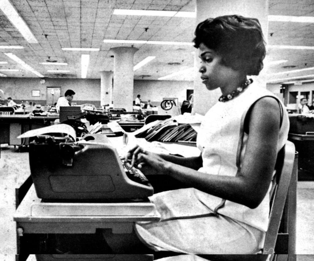 Dorothy working at the Washington Post