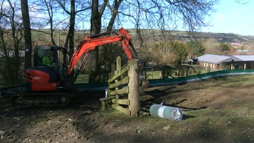 Newtown bypass building work starts on 53m road bbc news for Newtown builders