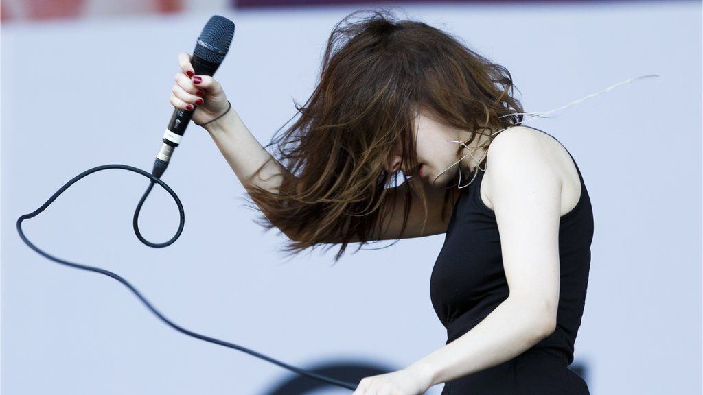 Lauren Mayberry performs with Chvrches