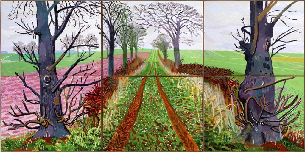A Closer Winter Tunnel, February–March, 2006 by David Hockney