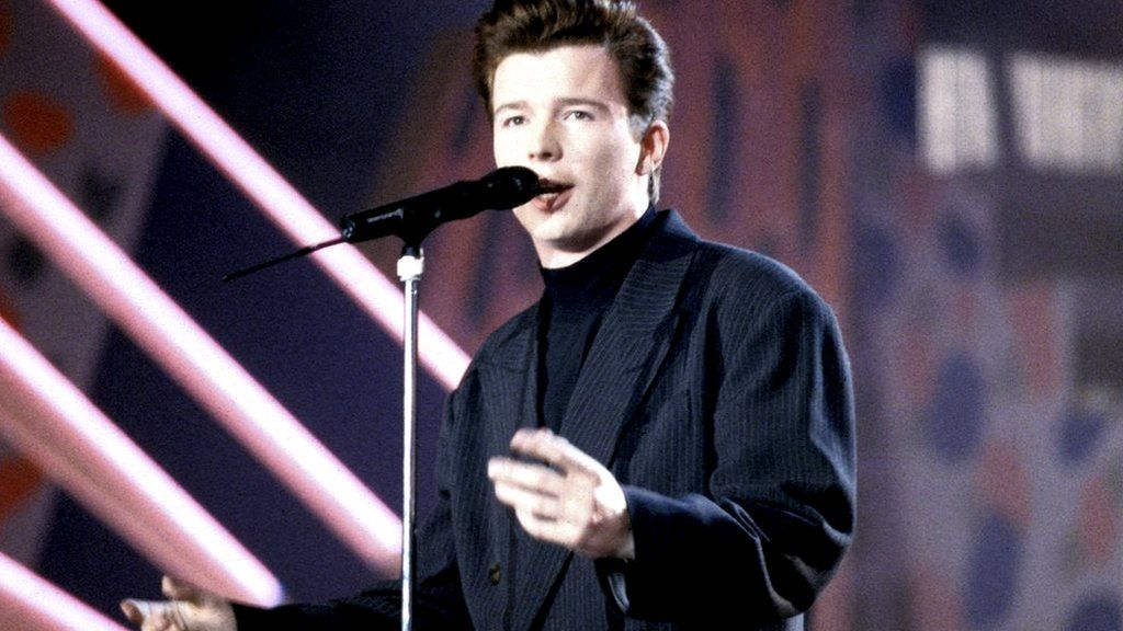 Rick Astley in the 1980s