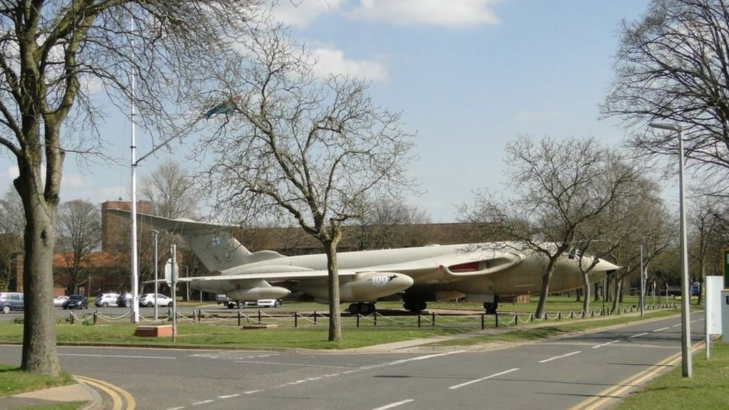 Raf Marham Victor Jet At Base Entrance To Be Scrapped Bbc News