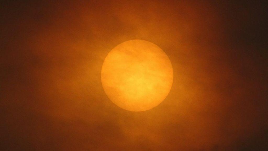 Ophelia turns skies a strange shade