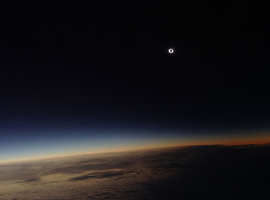 Total Solar Eclipse over North Atlantic Ocean - by Philippe Rowland (aged 7) (Young Astronomy Photographer of the Year, Highly Commended)