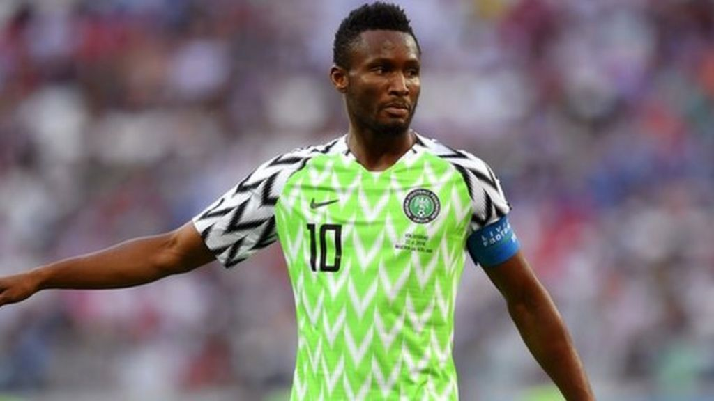 online store cd28b 23b2d Mikel named in Nigeria's provisional Afcon 2019 squad - BBC ...