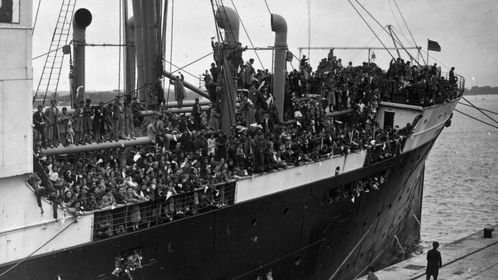 Young Spanish refugees arrived in Southampton aboard the Habana in 1937