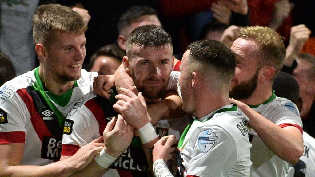 Larne 2-3 Glentoran: Patrick McClean's overhead kick sinks Invermen in  five-goal thriller - BBC Sport