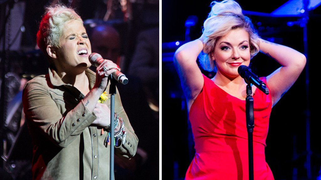 Amy Wadge and Sheridan Smith
