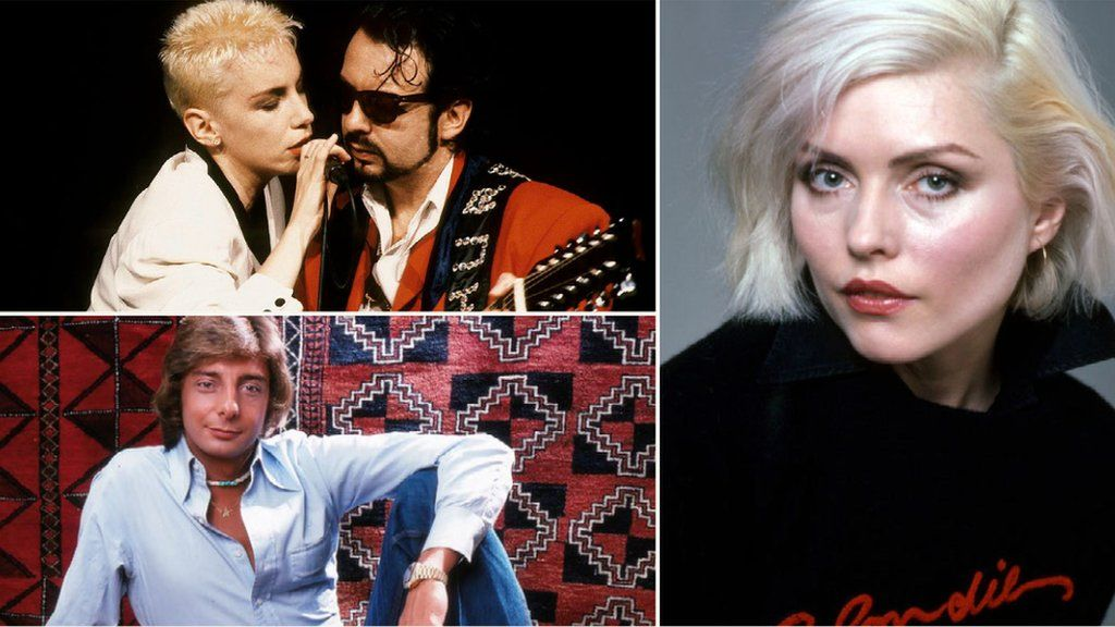The Eurythmics, Blondie and Barry Manilow