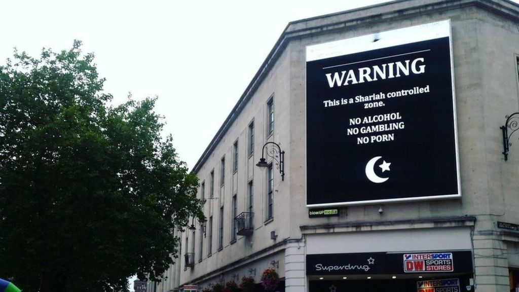 Offensive images on hacked billboard