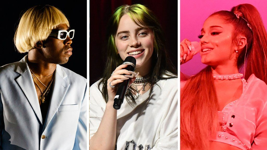 International nominees Tyler, The Creator, Billie Eilish and Ariana Grande