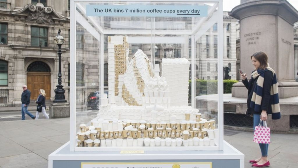 Coffee cup recycling scheme launched in City of London BBC