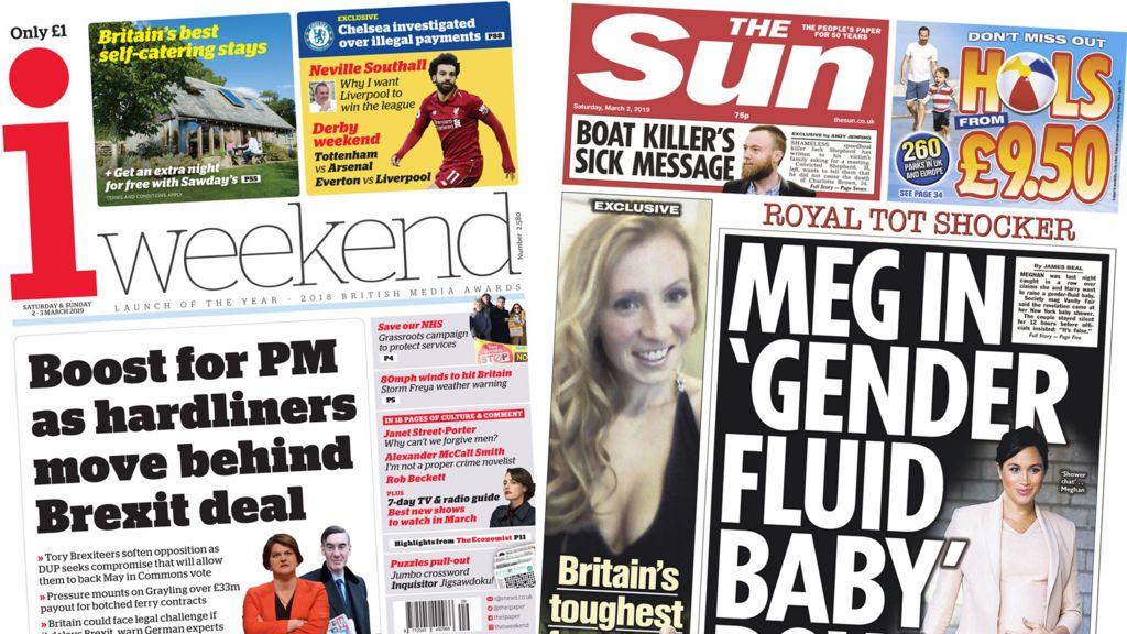 Newspaper headlines: Meghan 'spurns stereotypes' and Brexit