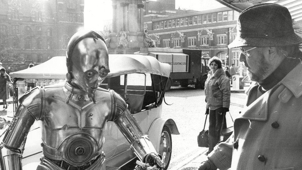John Williams and C3PO at the Royal Albert Hall