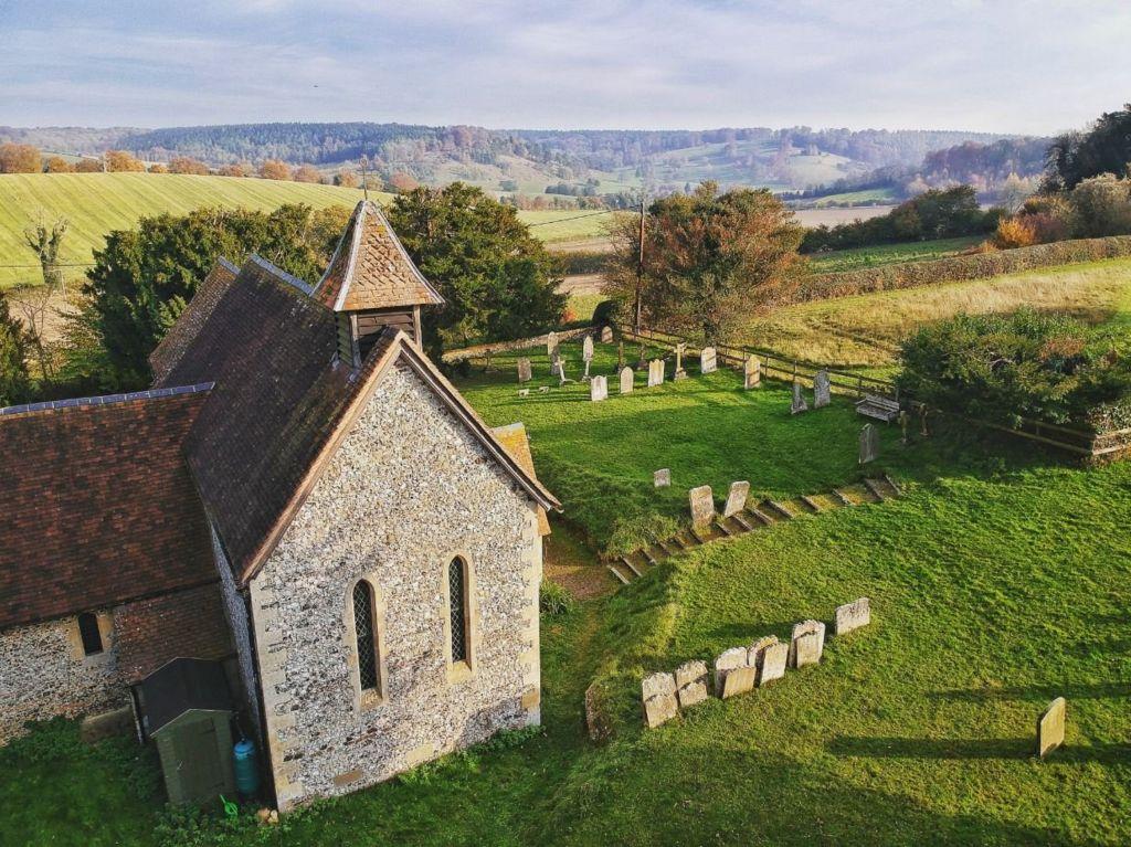 Pishill Church in the sunshine