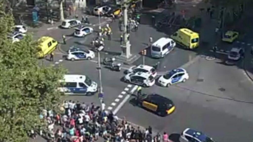 Barcelona: Van hits crowds in Ramblas tourist area
